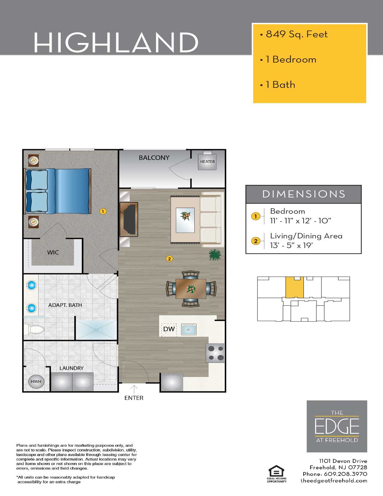 The Edge At Freehold Floor Plan Highland