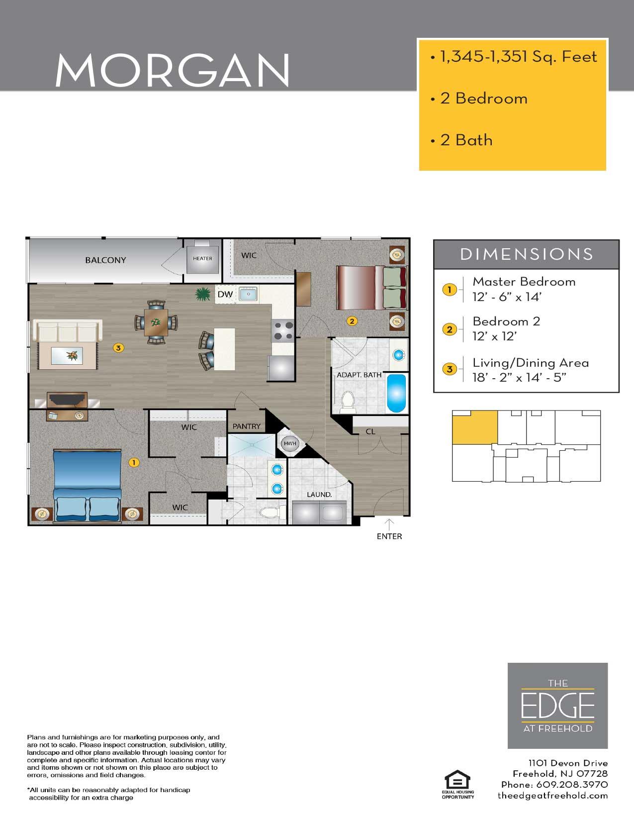 The Edge At Freehold Floor Plan Morgan